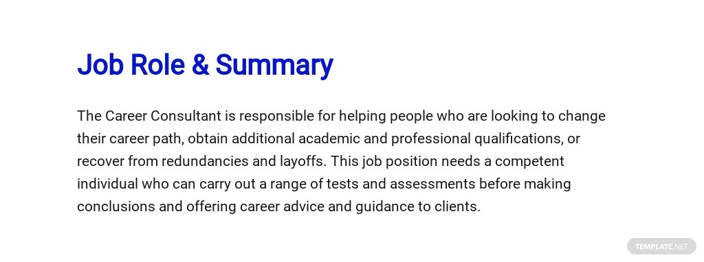 Free Career Consultant Job Description Template 2.jpe