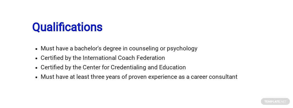 Free Career Consultant Job Description Template 5.jpe
