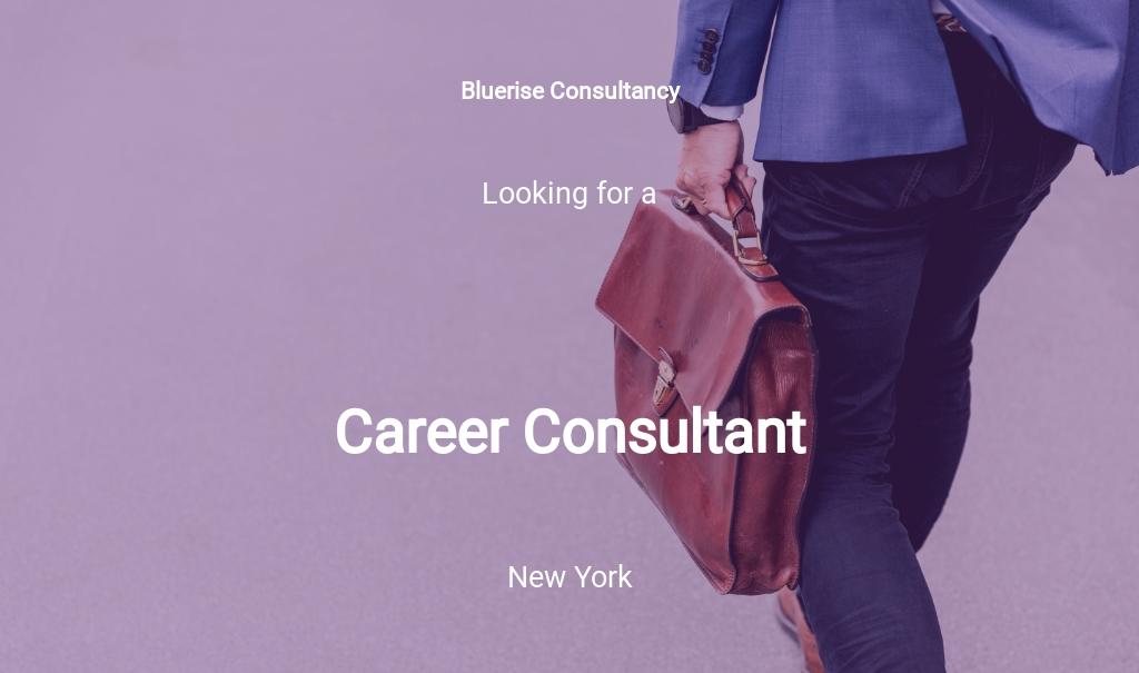 Free Career Consultant Job Description Template.jpe