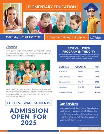 Education Tutoring Flyer Template Free Templates