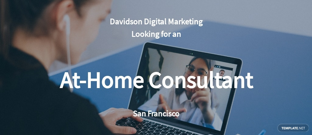 At Home Consultant Job Ad and Description Template