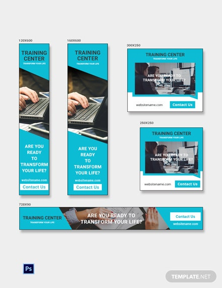 Free Training Center Banner Ads Template