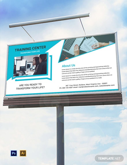 Free Training Center Billboard Template
