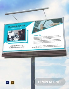 Free Training Center Billboard Template