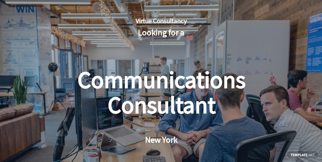 Communications Consultant Job Ad and Description Template