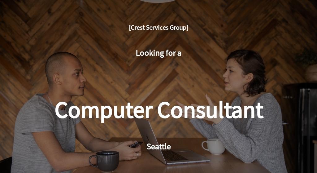 Computer Consultant Job Ad and Description Template