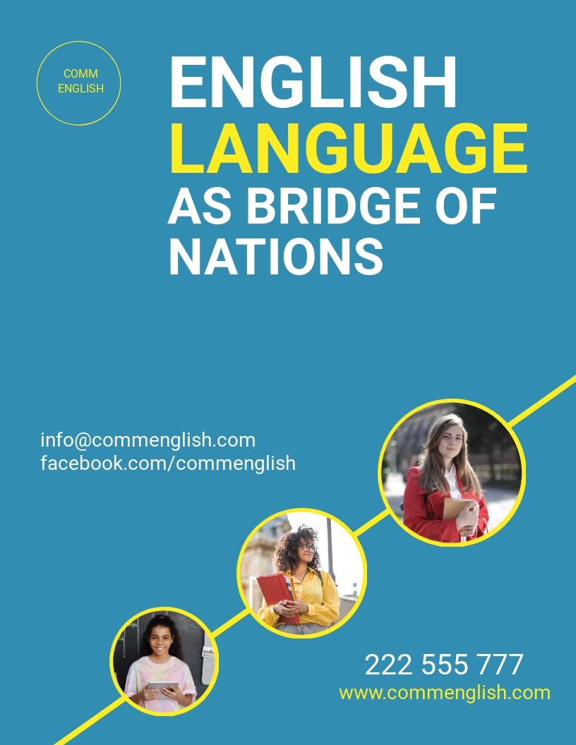 Language Tutoring Flyer Template