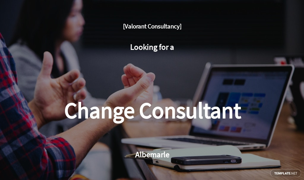 Change Consultant Job Ad and Description Template
