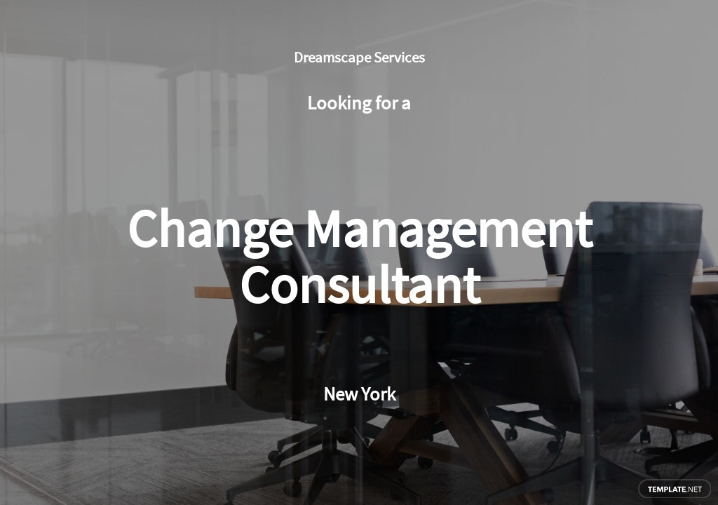 Change Management Consultant Job Ad and Description Template