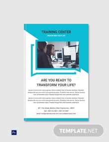 Free Training Center eBook Cover Page Template
