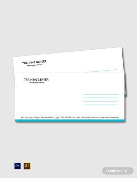 Free Training Center Envelope Template