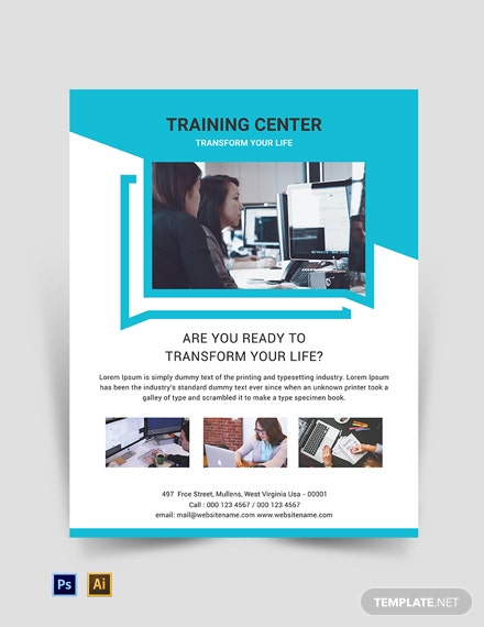 Free Training Center Flyer Template