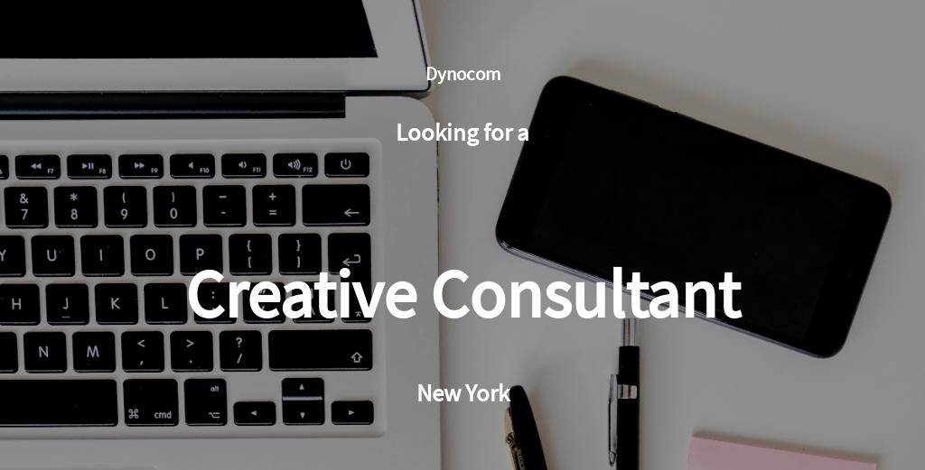 Creative Consultant Job Ad and Description Template