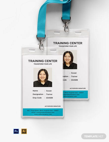 Free Training Center ID Card Template