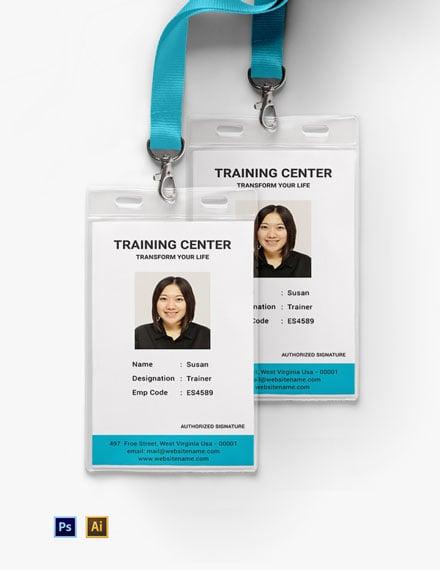 Training Center ID Card
