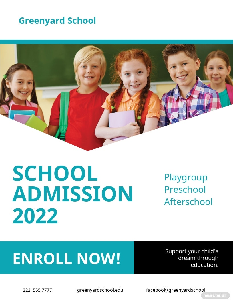 Free School Admission Flyer Template