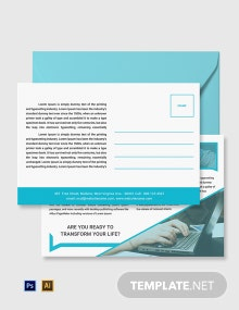Free Training Center Postcard Template