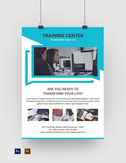 Free Training Center Poster