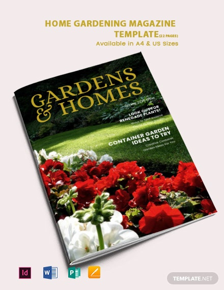Home Gardening Magazine Template