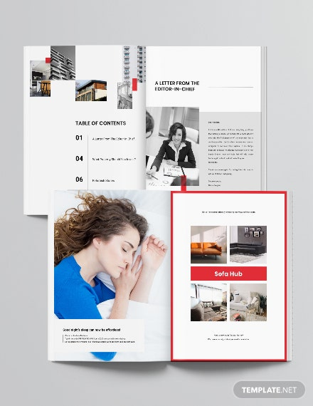 Layout Real Estate Magazine Template