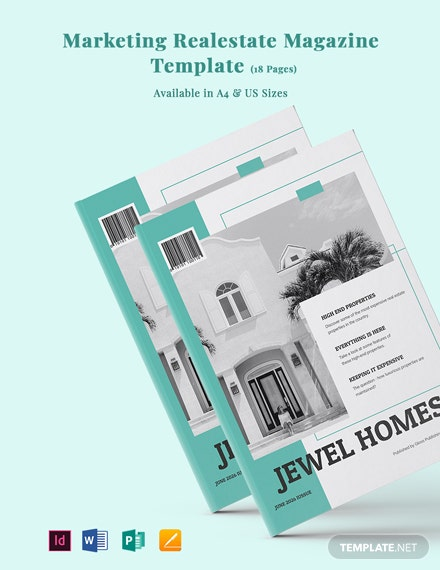 Marketing Real Estate Magazine Template