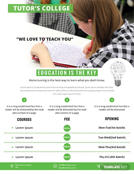 tutoring flyer template 1x