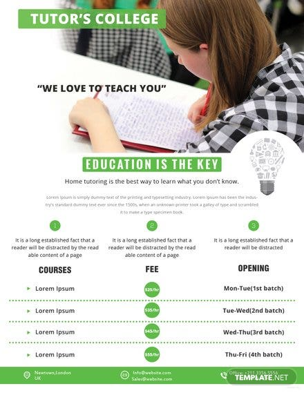 Tutoring Flyer Template Free Templates