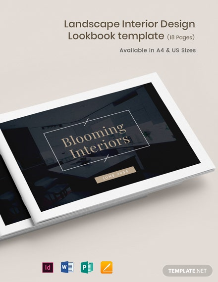 Landscape Interior Design Lookbook Template