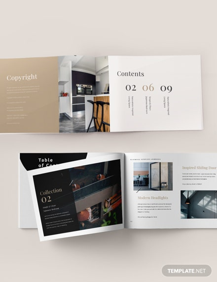 Landscape Interior Design Lookbook Template