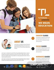 FREE Academic Tutoring Flyer Template
