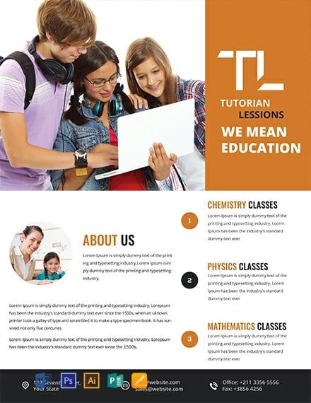 FREE Academic Tutoring Flyer Template