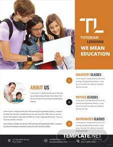 Education Tutoring Flyer Template