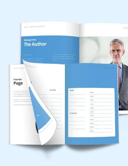 Social Media Planner Workbook Template