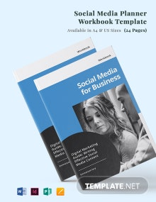 Social Media Planner Workbook Template