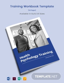 Training Workbook Template