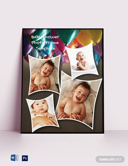 Free Baby Shower Photo Frame Template