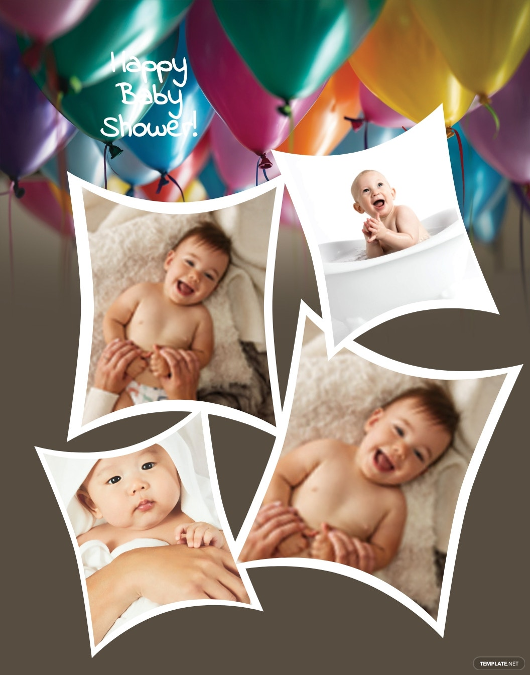 Baby Shower Photo Frame Template