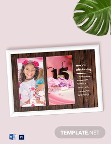 Free Birthday Photo Frame Template