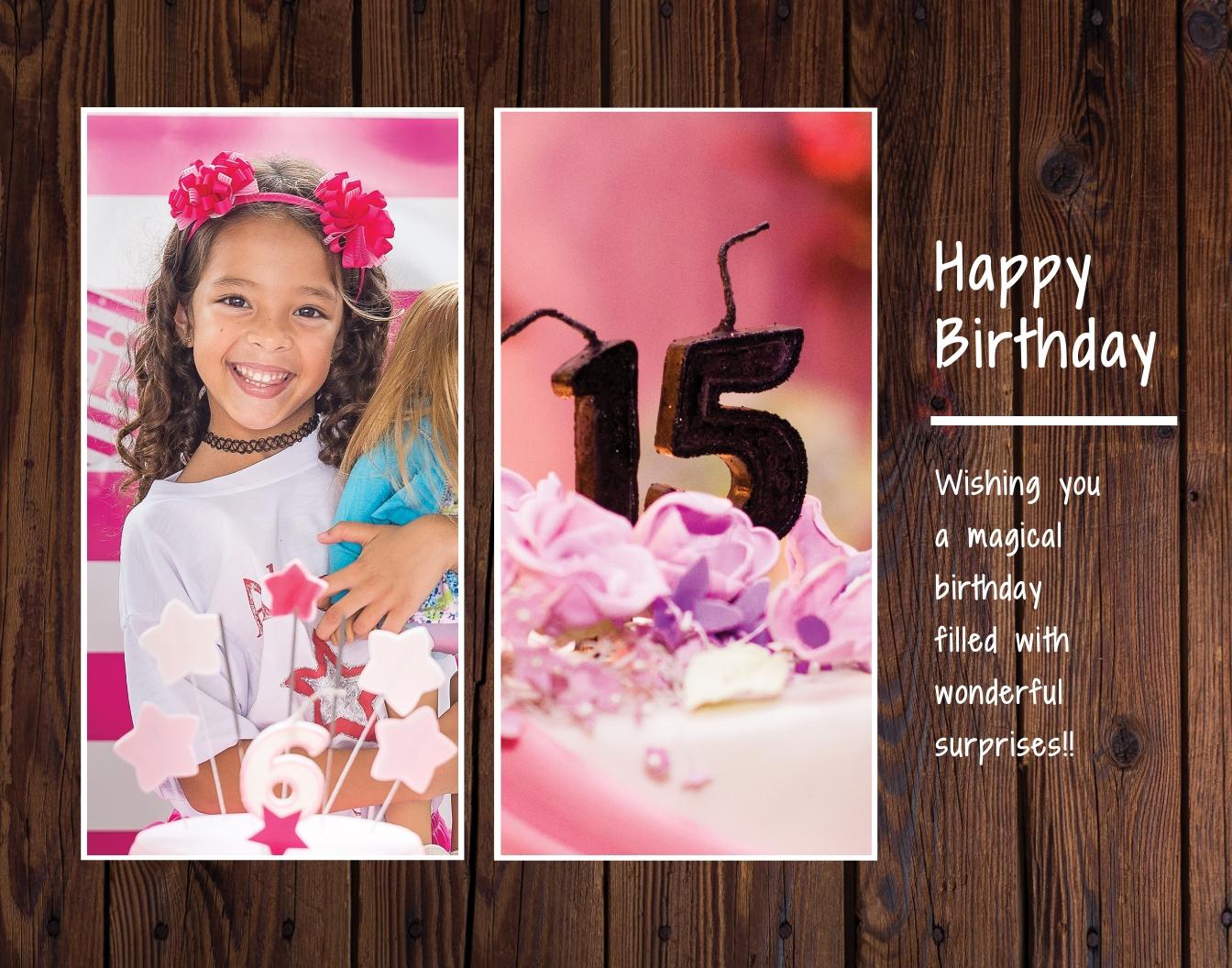 Birthday Photo Frame Template