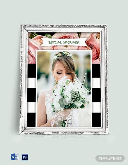Free Bridal Shower Photo Frame Template