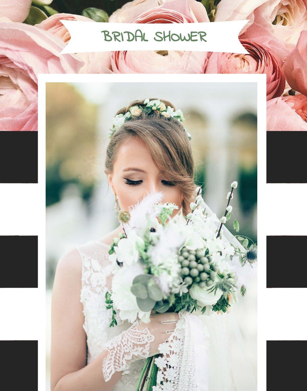 Bridal Shower Photo Frame Template