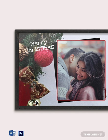 Free Christmas Photo Frame Template