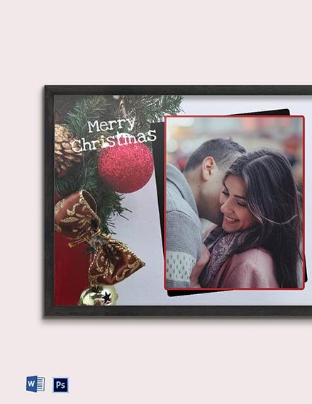 Free Christmas Photo Frame Template