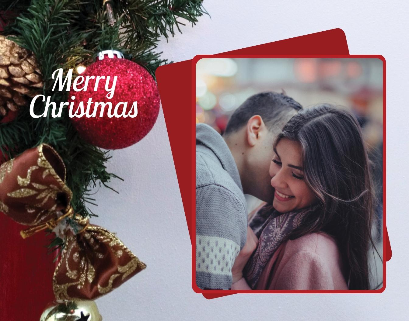 Christmas Photo Frame Template