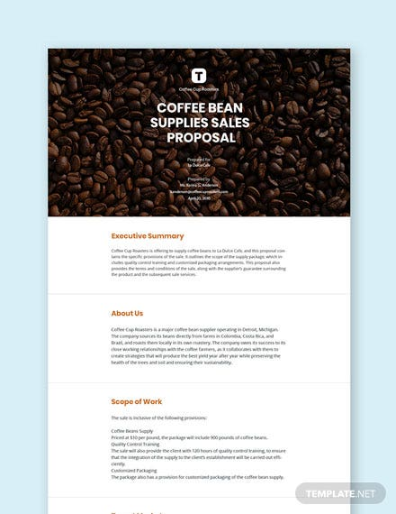 Free Sales Proposal Template