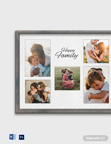 Free Editable Photo Frame Template
