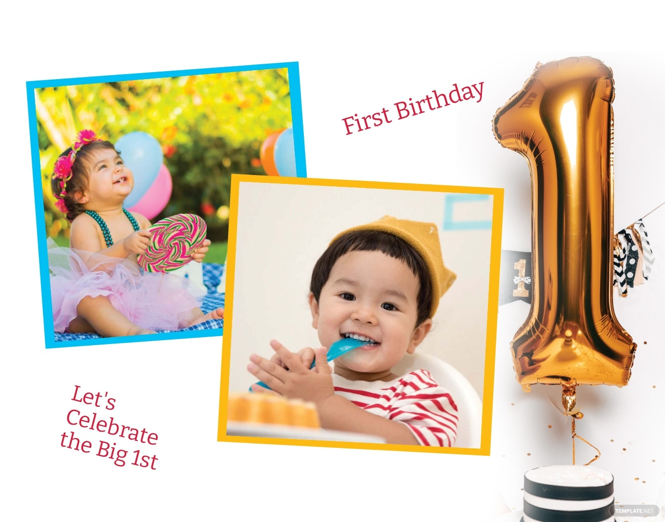 First Birthday Photo Frame Template