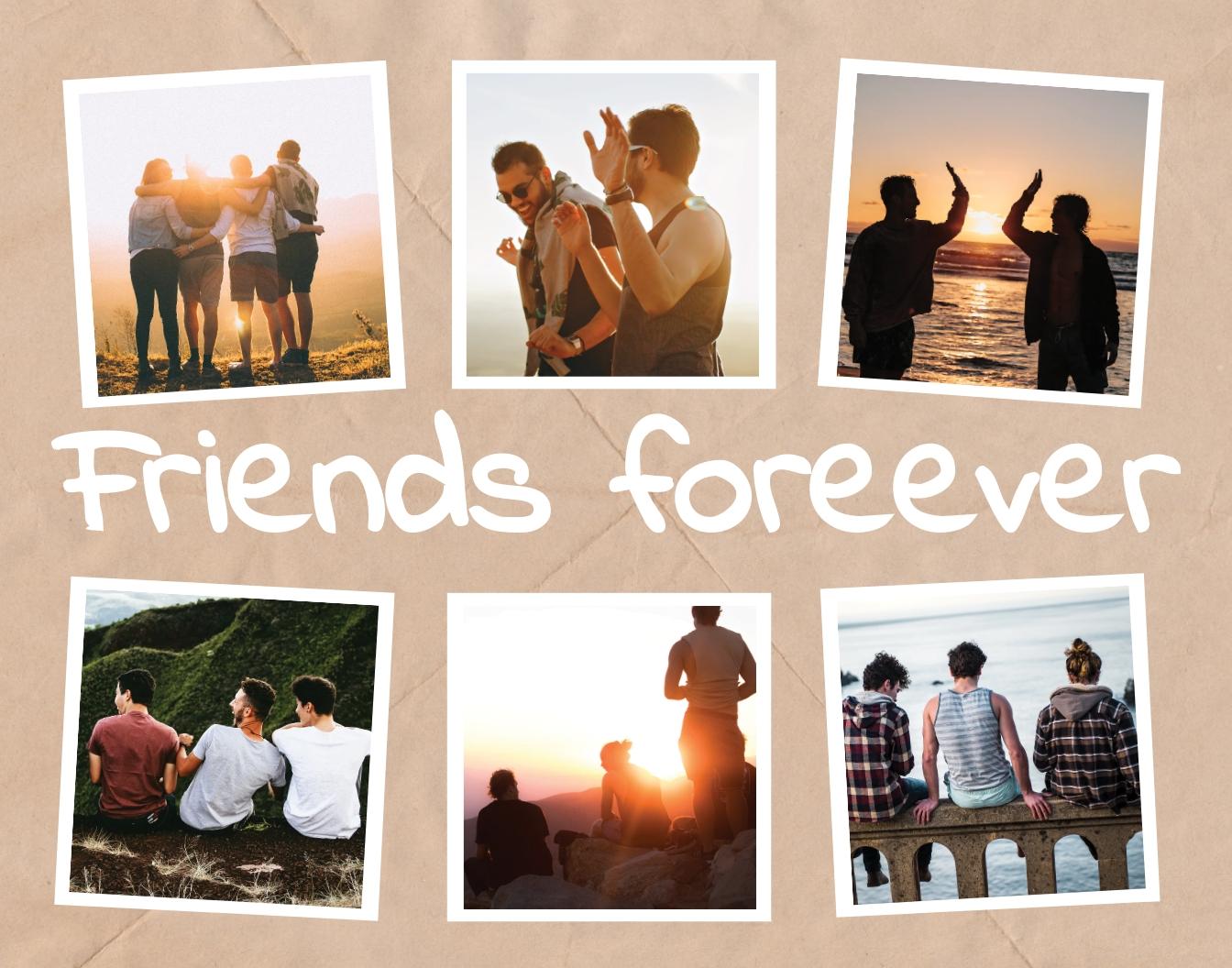 Friends Photo Frame Template
