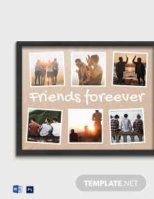 Free Friends Photo Frame Template