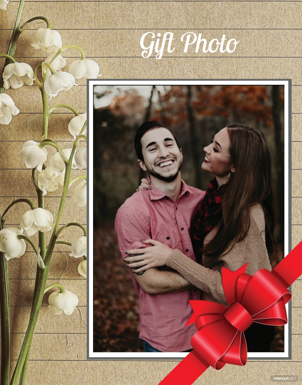Gift Photo Frame Template
